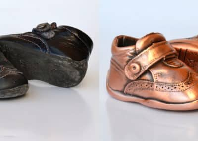 Zapatitos en cobre satinado